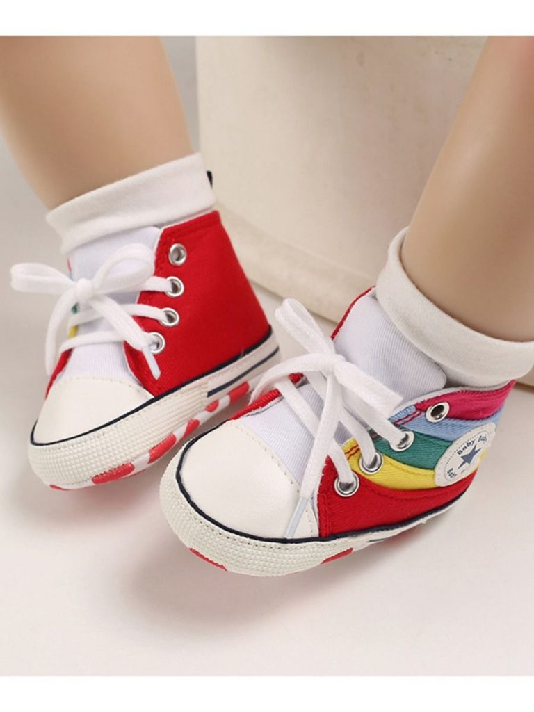 kiskissing wholesale baby rainbow canvas shoes