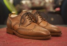 mens formal brogues true bovine
