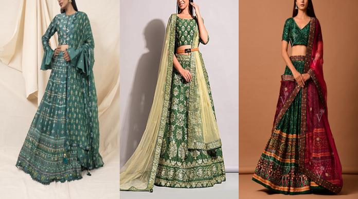 Green Lehengas for Theme Weddings Jaipur Lehenga Shop