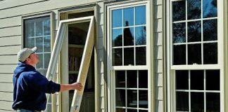 window glass installation home office
