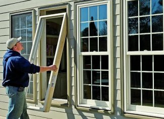 window glass installation home office