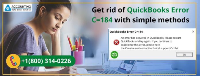 QuickBooks Error C=184