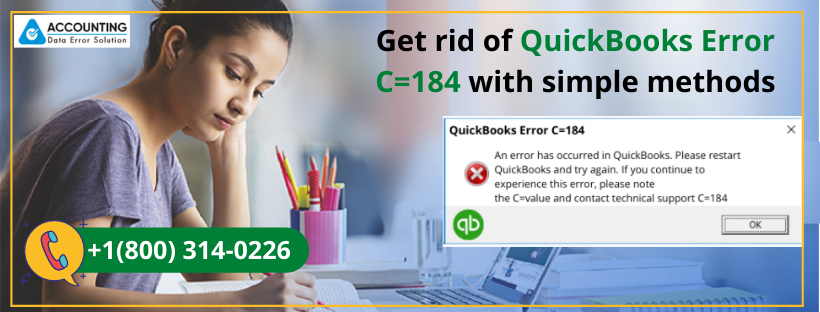 How do I deal with QuickBooks Error C=184?