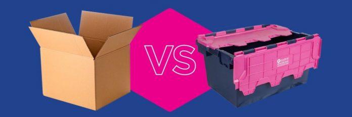 cardboard boxes vs plastic boxes