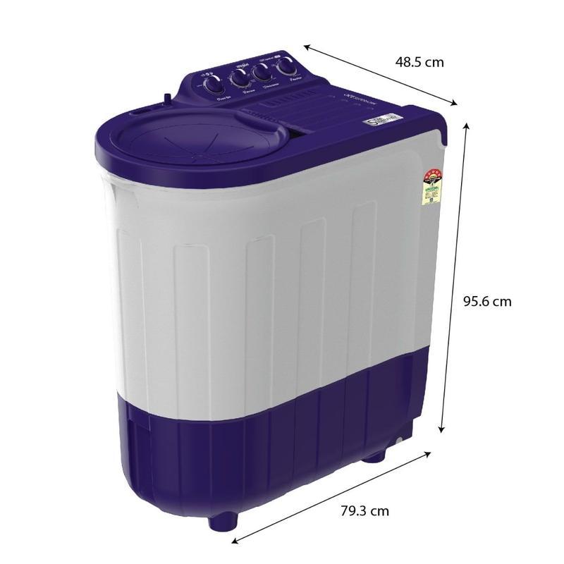 Buy Whirlpool Ace 7.5KG Super Soak Semi-Automatic Washing Machine (Purple) Online Buy washing machine online