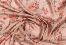 buy Digital Floral Print on Linen Silk Fabric online