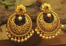 gold earrings in dubai