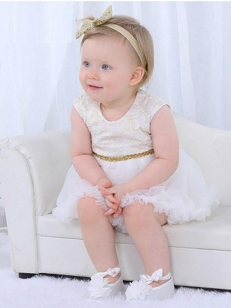 SUMMER BABY GIRL MESH BODYSUIT DRESS