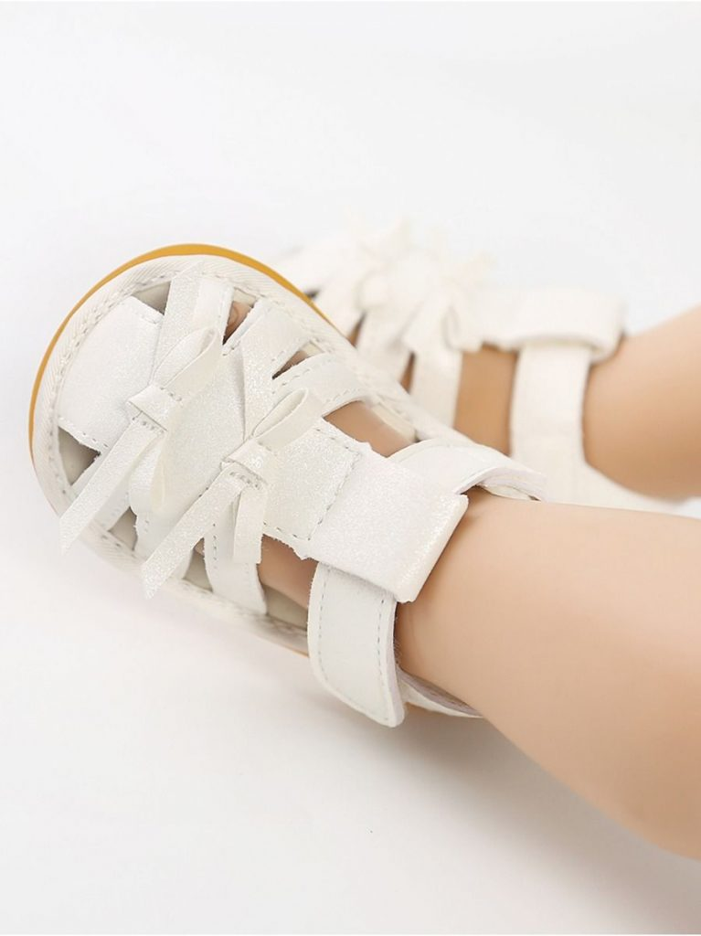 Baby Girl Sparkle Bowknot Closed-toes Sandals