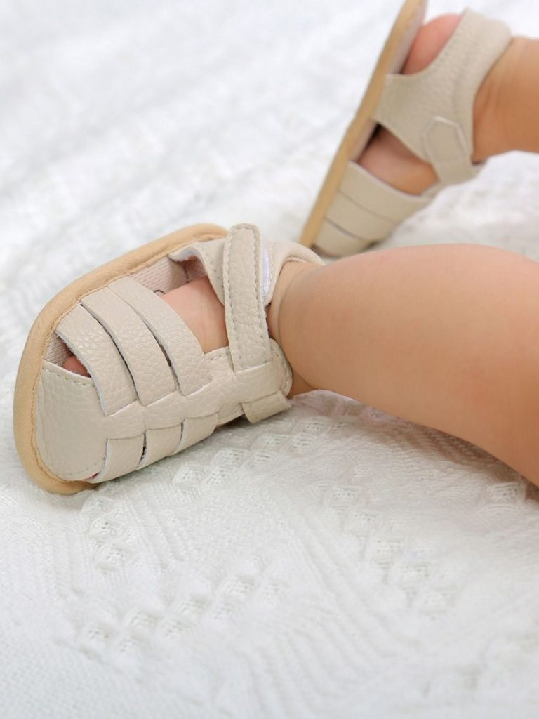 Baby Sandals Closed Toe Solid Color