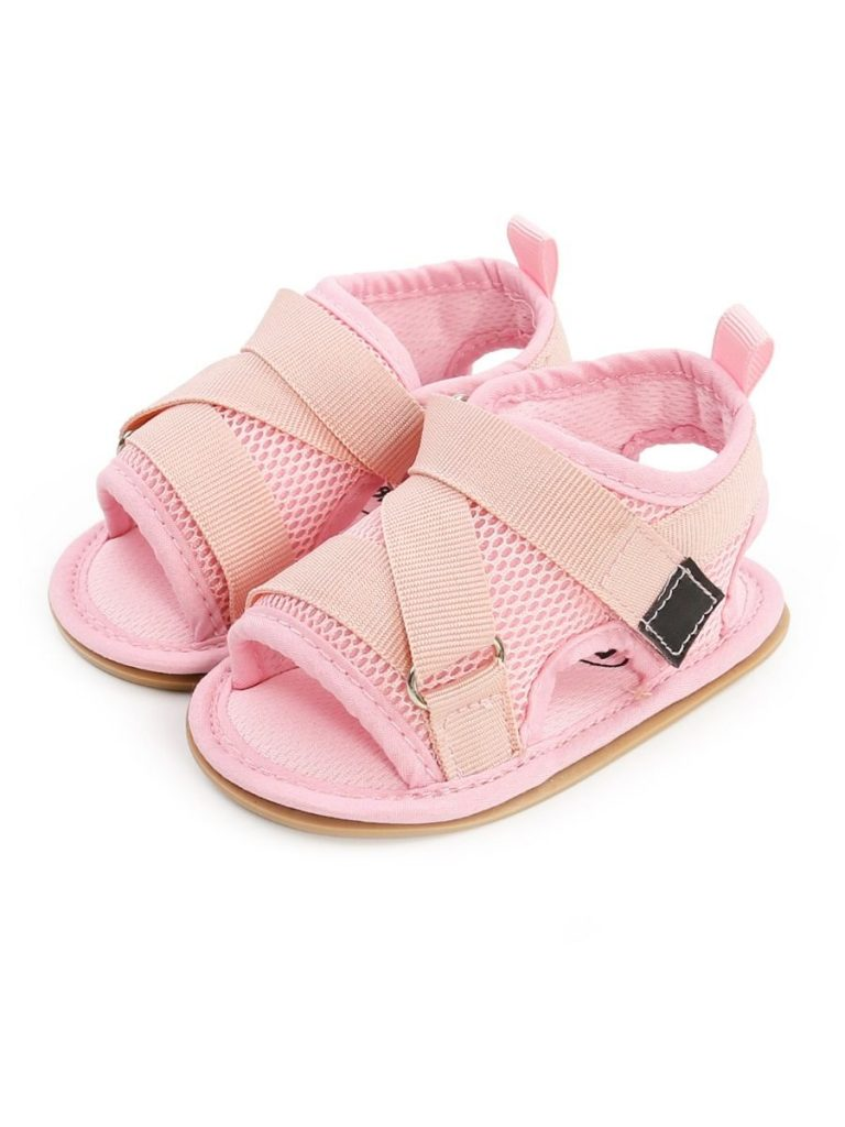 Baby Velcro Solid Color Mesh Sandals
