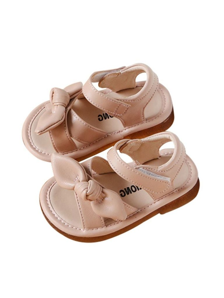 TODDLER GIRL KNOTTED PU SANDALS