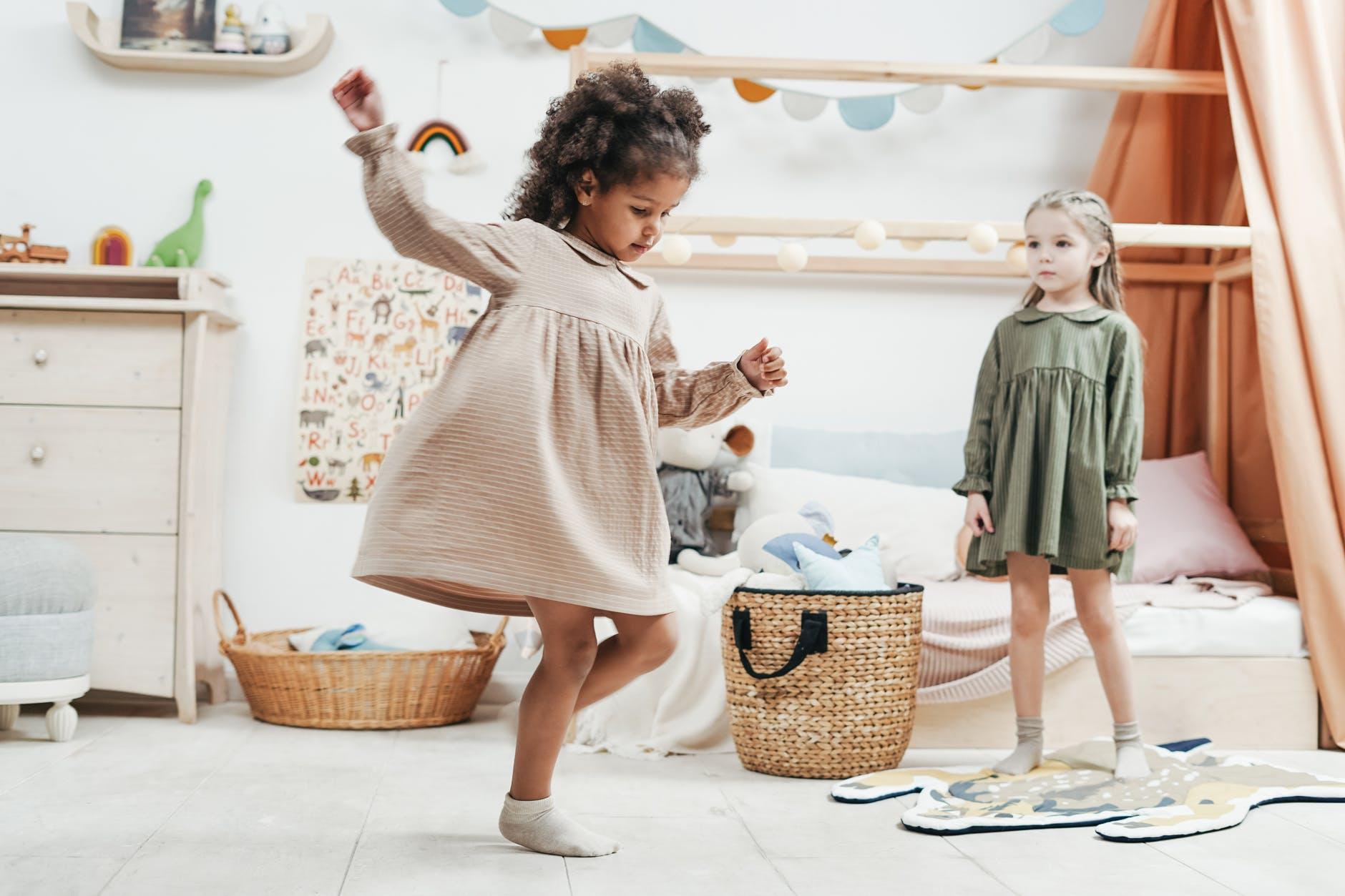 kids inside playrooms