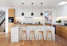 A sleek and stylish organised kitchen
