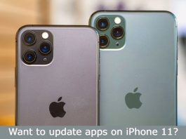 update apps on iphone 11