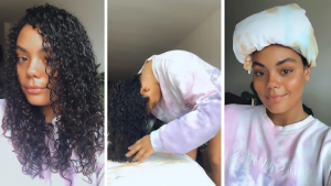 Define your curls with curl defining products when your curly hair is still wet