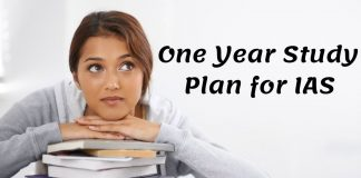 One Year Study Plan for IAS