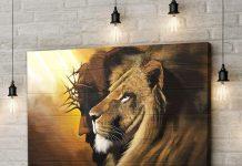 The Lion of Judah Jesus Christ Canvas Wall Art - Christian Wall Art